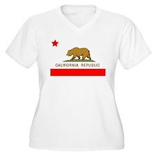 California Republic State Flag Plus Size T-Shirt