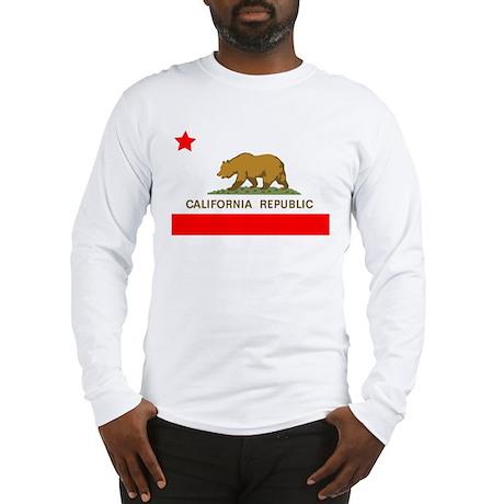 California Republic State Flag Long Sleeve T-Shirt
