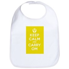 Keep Calm and Carry Om Bib