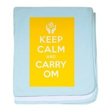 Keep Calm and Carry Om baby blanket