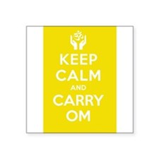 Keep Calm and Carry Om Sticker