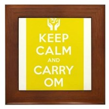Keep Calm and Carry Om Framed Tile