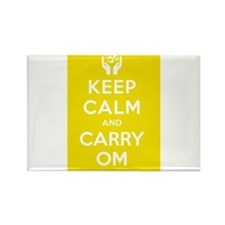 Keep Calm and Carry Om Rectangle Magnet