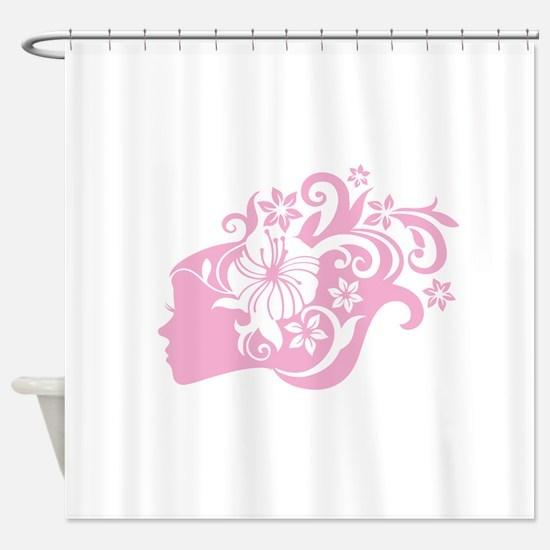 Women%27s scoop neck Shower Curtain