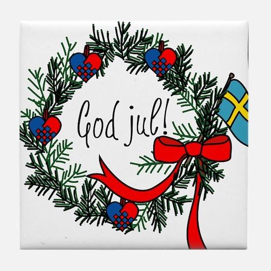 God Jul Tile Coaster