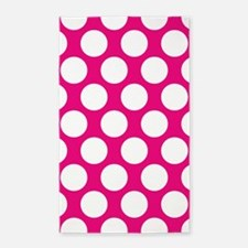 Hot Pink Polkadot 3'x5' Area Rug