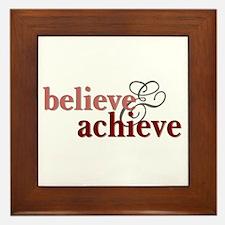 Believe & Achieve Framed Tile