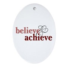Believe & Achieve Oval Ornament