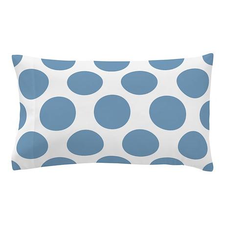 Soft Blue Polkadot Pillow Case