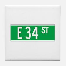 E 34 St., New York - USA Tile Coaster
