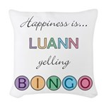 Luann Yelling BINGO Woven Throw Pillow