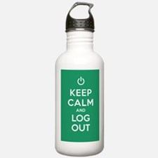 Keep Calm And Log Out Water Bottle