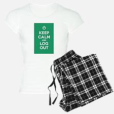 Keep Calm And Log Out Pajamas