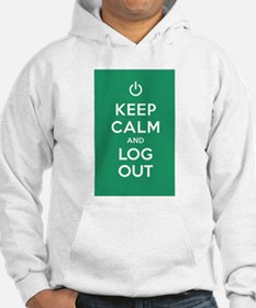 Keep Calm And Log Out Hoodie