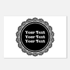 CUSTOM TEXT Gothic Round Postcards (Package of 8)
