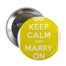 "Keep Calm And Marry On 2.25"" Button"