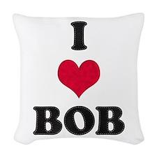 I Heart Bob Woven Throw Pillow