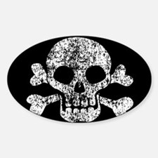 Worn Skull And Crossbones Decal