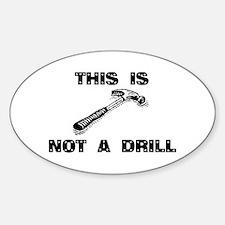 Cute Drills Sticker (Oval)