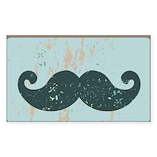 Blue Vintage Moustache Decal