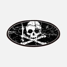 Crackled Skull And Crossbones Patches