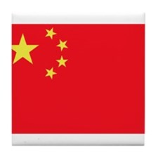 Peoples Republic of China Flag Tile Coaster
