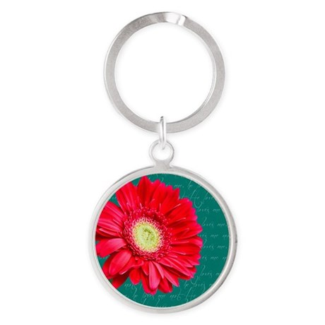 He loves me, he loves me not in green Keychains