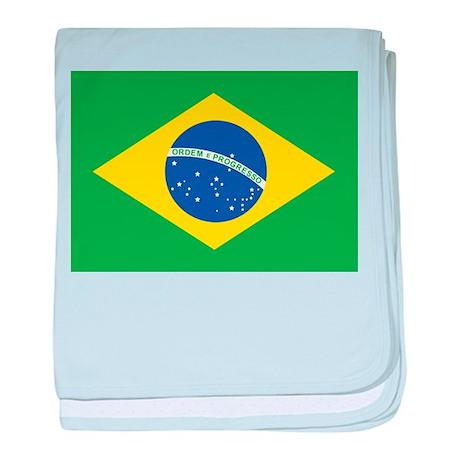 Brazil National Flag baby blanket