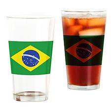 Brazil National Flag Drinking Glass