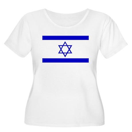 Flag of Israel Women's Plus Size Scoop Neck T-Shir