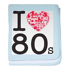 I Heart 80's baby blanket