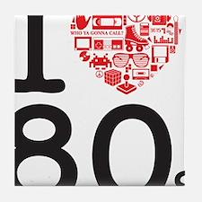 I Heart 80's Tile Coaster