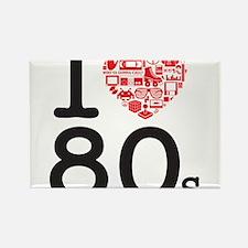 I Heart 80's Rectangle Magnet
