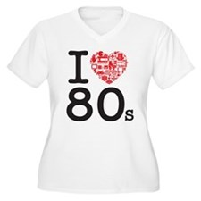I Heart 80's Plus Size T-Shirt