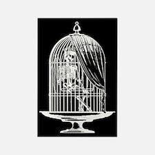 Skeleton In Birdcage Rectangle Magnet