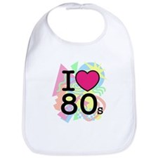 I Heart 80's Bib