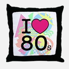 I Heart 80's Throw Pillow