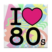 I Heart 80's Tile Coaster