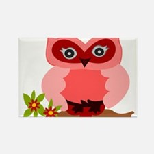 Cute Girly Owl Rectangle Magnet