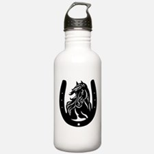 Horse Head & Horseshoe Water Bottle