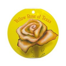 Cute Yellow rose Ornament (Round)