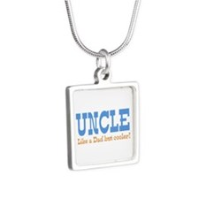 Uncle Like a Dad but Cooler Silver Square Necklace