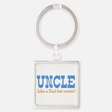 Uncle Like a Dad but Cooler Square Keychain