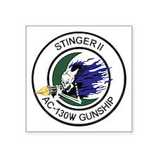 "AC-130W Stinger II Square Sticker 3"" x 3"""