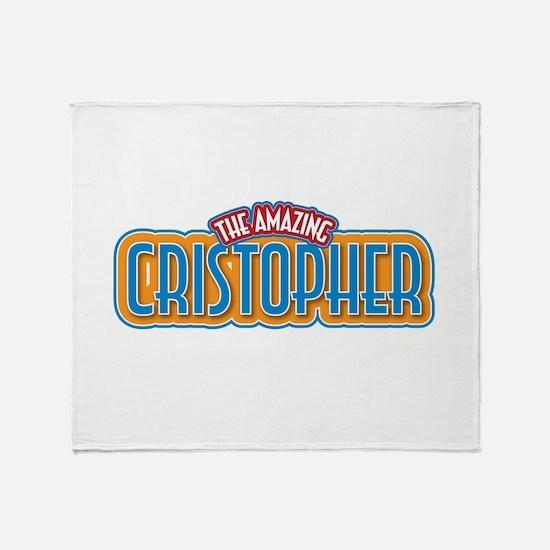The Amazing Cristopher Throw Blanket