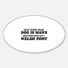 Welsh Pony lovers designs Sticker (Oval)