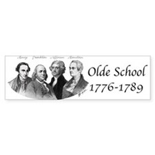 Olde School Bumper Bumper Sticker