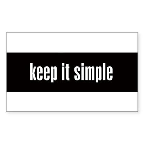 KEEP IT SIMPLE - Rectangle Sticker