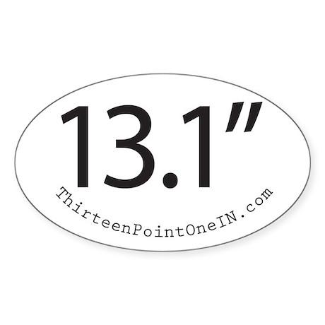 Thirteen Point One IN 13.1in Sticker