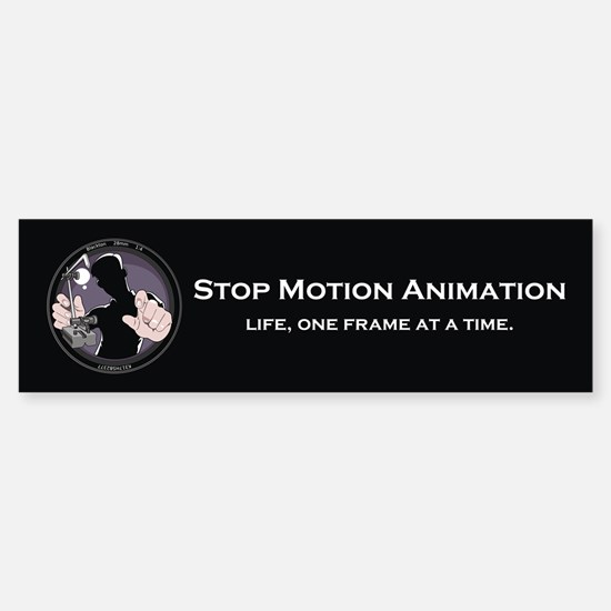 Stop Motion Animation Bumper Car Car Sticker